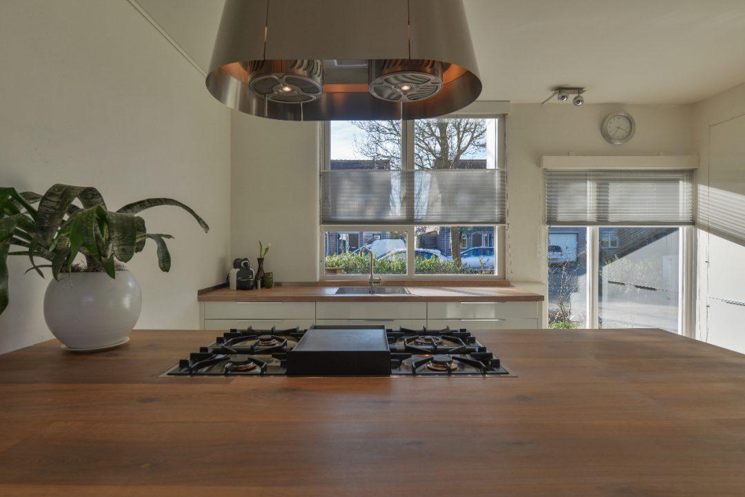 Maatwerk ikea keuken met geolied eiken houten werkblad houtzwagers.nl